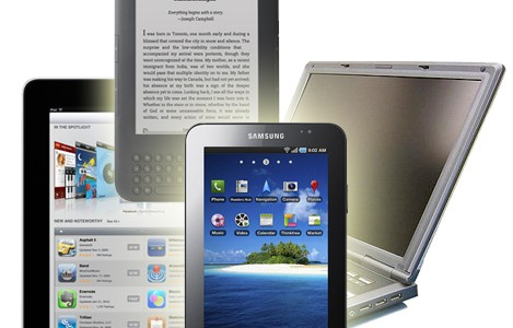 laptop, tablet, smartphone, e-reader technology