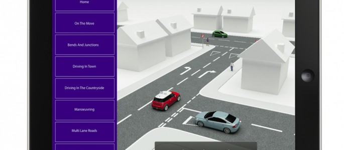 Screenshot from the Learn Driving in 3D app